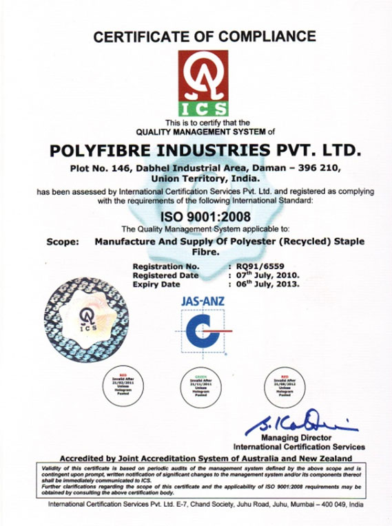 Pes Fiber Pes India Recycled Pes Regenerated Pes Rpsf India